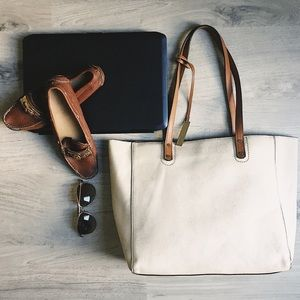 """Neiman Marcus XL all Leather """"Everything tote"""""""